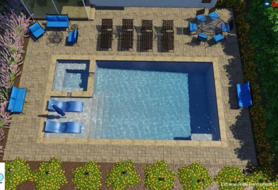 custom pool design rendering